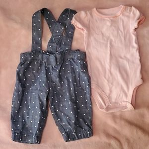 Carters Baby Girl Overalls 3m
